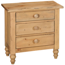 Kincaid Homecoming Pine 3 Drawer Nightstand