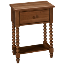Vaughan-Bassett Scotsman 1 Drawer Leg Table