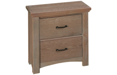 Vaughan-Bassett Transitions 2 Drawer Nightstand