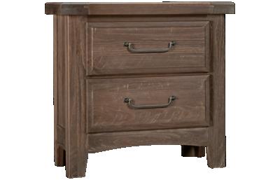 Vaughan-Bassett Sawmill 2 Drawer Nightstand