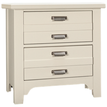 Vaughan-Bassett Bungalow 2 Drawer Nightstand