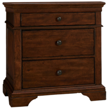 Klaussner Home Furnishings Trisha Yearwood Home 3 Drawer Nightstand