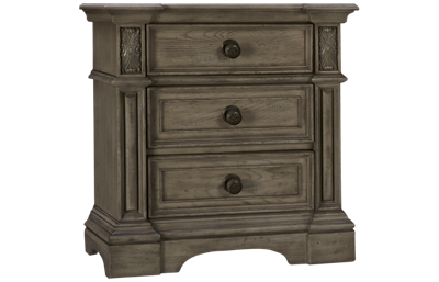 Klaussner Home Furnishings Windmere 3 Drawer Nightstand