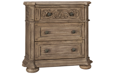 Klaussner Home Furnishings Cardoso 3 Drawer Nightstand