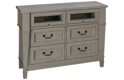 Folio 21 Furniture Stone Harbor 4 Drawer Media Chest