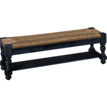Vaughan-Bassett Scotsman Seagrass Bench