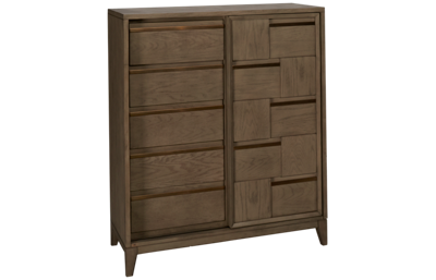 Magnussen Geometry Sliding Door 5 Drawer Chest