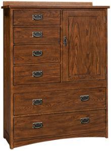 Intercon Oak Park 6 Drawer 1 Door Chest