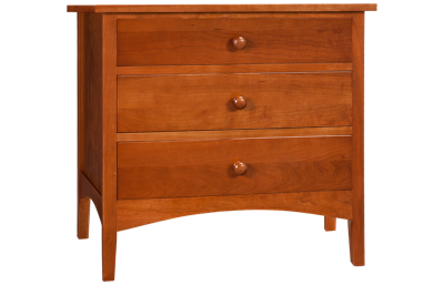 A America  Cherry Garden 3 Drawer Nightstand