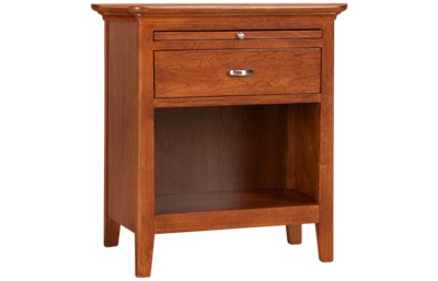 Kincaid   Cherry Park 1 Drawer Open Nightstand
