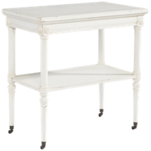 Magnolia Home Petite Rosette Table with Castors