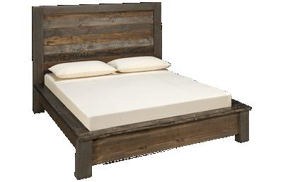International Furniture Direct Loft Brown Queen Bed