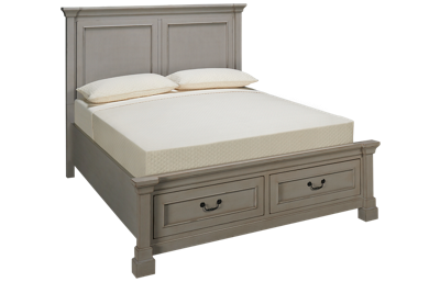 Folio 21 Furniture Stone Harbor Queen Panel Storage Bed
