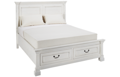Folio 21 Furniture Stoney Creek Queen Panel Bed with Underbed Storage