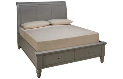 Aspen Cambridge Queen Sleigh Platform Storage Bed