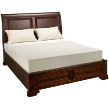 Aspen Richmond Queen Sleigh Platform Bed with Underbed Storage