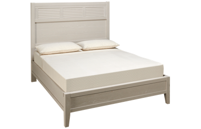 Vaughan-Bassett Passageways Queen Low Profile Louvered Bed