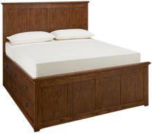 Intercon Oak Park Queen Panel Bed with Underbed Storage