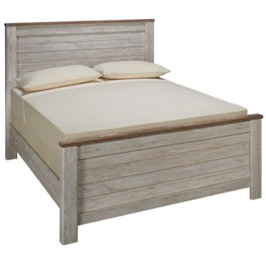 Willowton Queen Panel Bed, Willowton Queen Sleigh Bed