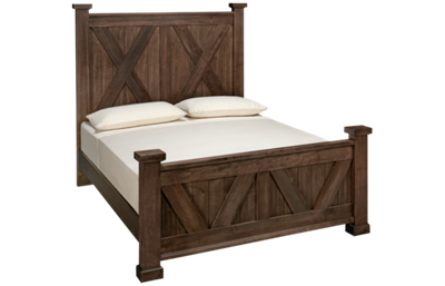 Vaughan-Bassett Cool Rustic Queen X Bed