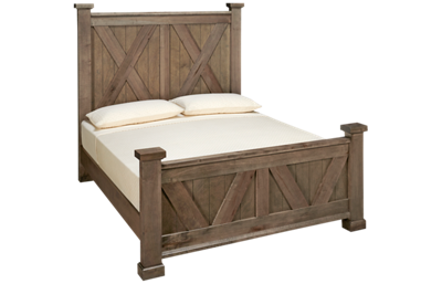 Vaughan-Bassett Cool Rustic Queen X Panel Bed
