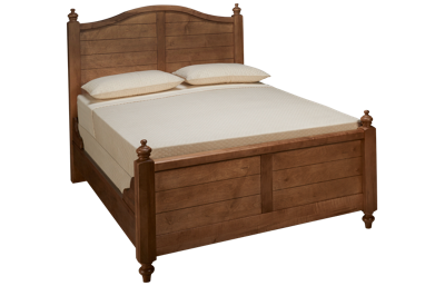 Vaughan-Bassett Scotsman Queen Poster Bed with Antique Rails