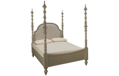 Universal Dogwood Queen Upholstered Poster Bed