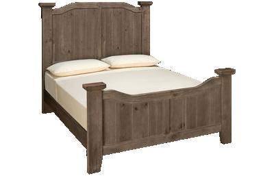 Vaughan-Bassett Sawmill Queen Arched Bed