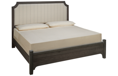 Vaughan-Bassett Bungalow King Low Profile Upholstered Bed