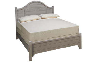 Vaughan-Bassett Bungalow Queen Arched Low Profile Bed