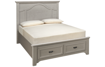 Vaughan-Bassett Bungalow Queen Mantel Storage Bed