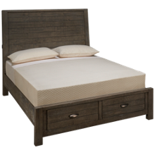 Aspen Radiata Queen Sleigh Storage Bed