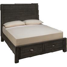 Aspen Radiata Queen Sleigh Platform Storage Bed