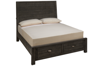Aspen Radiata Queen Sleigh Platform Storage Bed