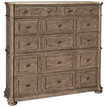 Klaussner Home Furnishings Cardoso Master Chest Top and Base