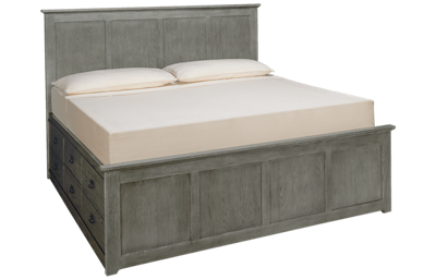 Intercon Oak Park King Panel Bed with Storage