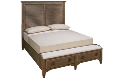 Riverside Myra Queen Louver Storage Bed