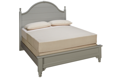 Vaughan-Bassett Cottage Queen Low Profile Panel Bed