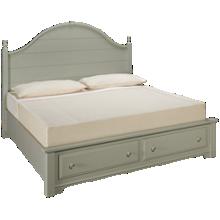 Vaughan-Bassett Cottage King Panel Storage Bed