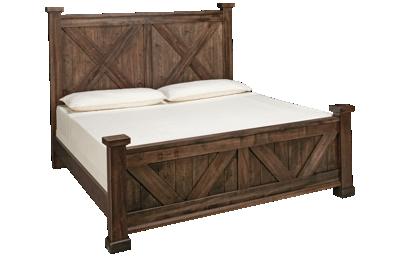 Vaughan-Bassett Cool Rustic King X Bed