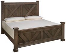 Vaughan-Bassett Cool Rustic King X Panel Bed