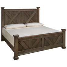 Vaughan-Bassett Cool Rustic King X Panel Bed