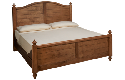 Vaughan-Bassett Scotsman King Poster Bed with Antique Rails