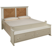 Vaughan-Bassett Scotsman King Seagrass Bed with Bench Footboard