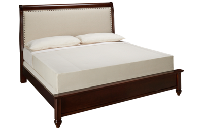 Vaughan-Bassett French Market Upholstered Low Profile King Bed