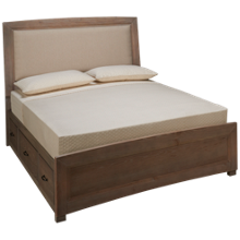 Vaughan-Bassett Transitions Queen Upholstered Panel Bed with Storage