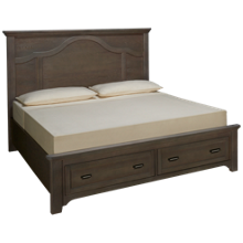 Vaughan-Bassett Bungalow King Mantel Storage Bed