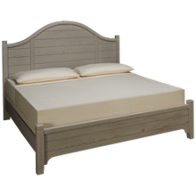 Vaughan-Bassett Bungalow King Arched Low Profile Bed