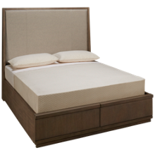Klaussner Home Furnishings Melbourne Queen Upholstered Storage Bed