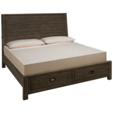 Aspen Radiata King Sleigh Storage Bed